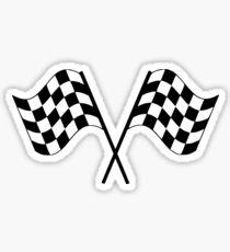 Checkered Flag Racing Sticker Sticker