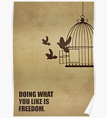 Doing What You Like Is Freedom - Corporate Start-up Quotes Poster
