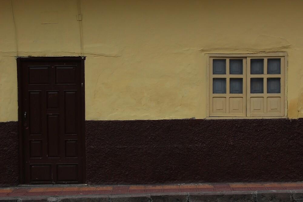 Brown Window and Yellow Door by rhamm
