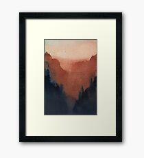 Dusk Mountains Framed Print