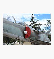 Military Jet on Display Photographic Print