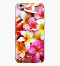 Plumeria-rosa weiße Frangipani-tropische hawaiische Blumen-feine Kunst iPhone-Hülle & Cover