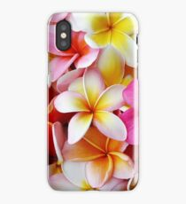 Plumeria Pink White Frangipani Tropical Hawaiian Flower Floral Fine Art iPhone XS Case