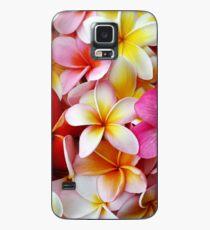 Plumeria-rosa weiße Frangipani-tropische hawaiische Blumen-feine Kunst Hülle & Klebefolie für Samsung Galaxy