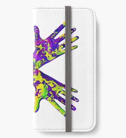 #DeepDream Painter's gloves 5x5K v1456325888 iPhone Wallet
