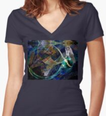 The Education of a Goddess Women's Fitted V-Neck T-Shirt