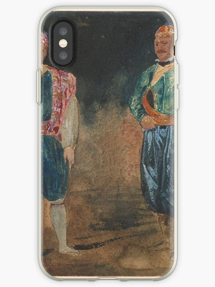 Eugène Delacroix  Two Figures in Cypriot Costume by MotionAge Media