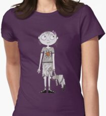 Violet Pumpernickel Womens Fitted T-Shirt