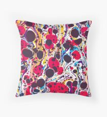 Psychedelic Vintage Marbled Paper Pepe Psyche Throw Pillow