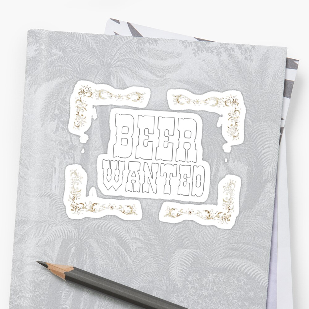 Beer Wanted, wild wild west by cool-shirts