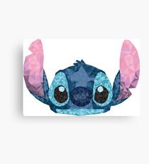 Stitch Geometric (Lilo and Stitch) Canvas Print