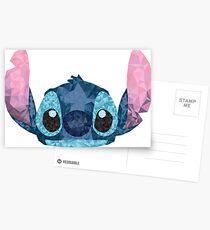 Postales Stitch Geometric (Lilo y Stitch)