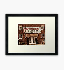 """""""Antiques, Clinton Mall, #1""""... prints and products Framed Print"""