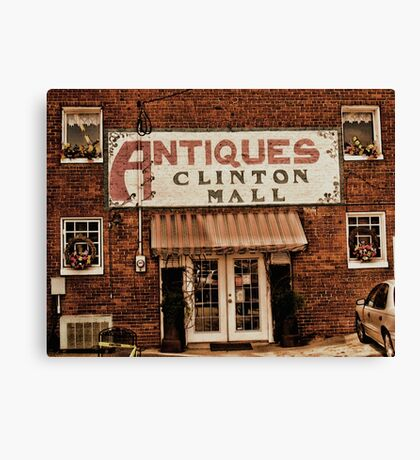 """Antiques, Clinton Mall, #1""... prints and products Canvas Print"
