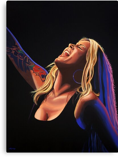 Anouk in concert Painting by PaulMeijering