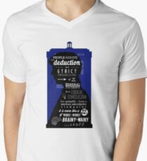Wholock - A Study in Deduction Mens V-Neck T-Shirt