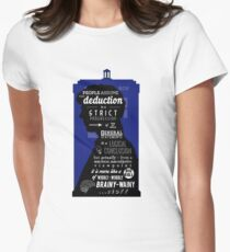 Wholock - A Study in Deduction Women's Fitted T-Shirt
