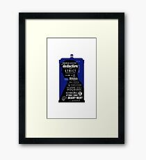 Wholock - A Study in Deduction Framed Print