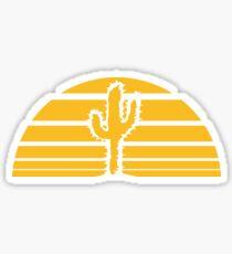 cactus, desert sunset strip lines sunrises Sticker