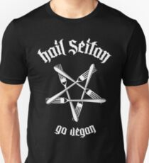 Hail Seitan - Go vegan 1.1 (white) T-Shirt