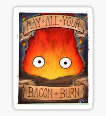 Howl's Moving Castle Illustration - CALCIFER (original)  Sticker