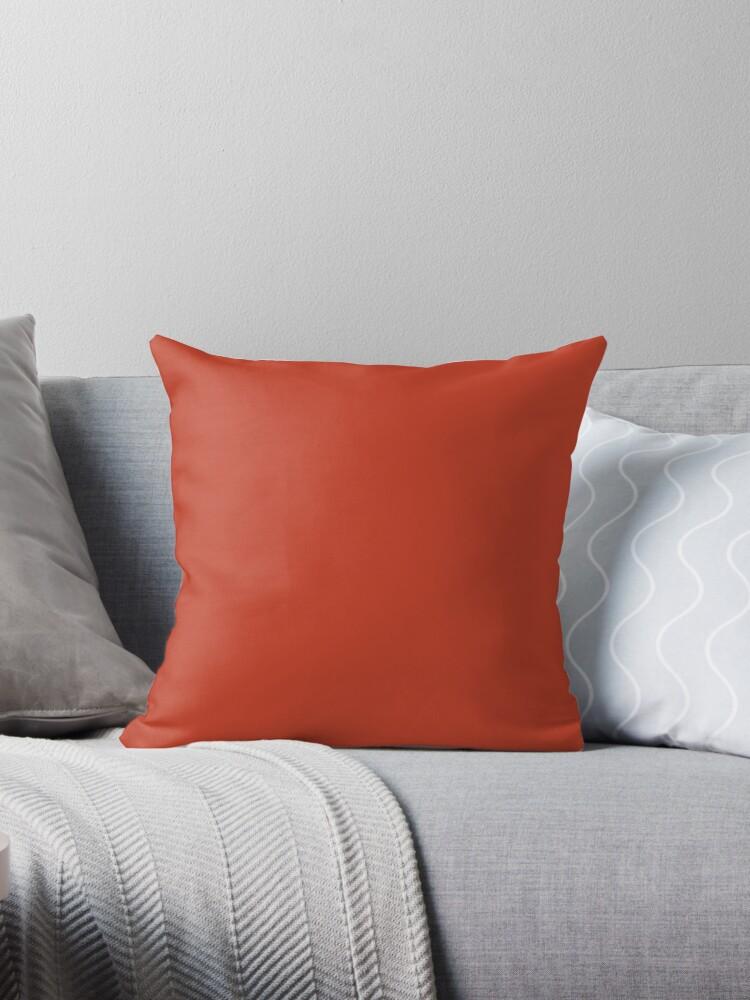 Beautiful Cushions/ Plain Dark pastel red by ozcushions