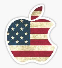 Apple American Flag Sticker
