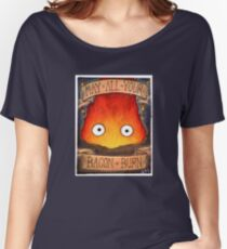 Studio Ghibli Illustration: CALCIFER #2 Women's Relaxed Fit T-Shirt