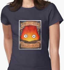 Studio Ghibli Illustration: CALCIFER #2 Women's Fitted T-Shirt