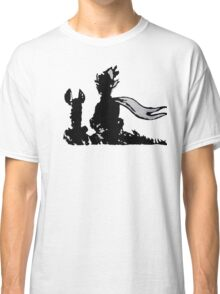 The LITTLE PRINCE and the FOX - stencil grey version Classic T-Shirt