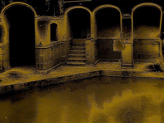 The Roman Bath Of Bath by Vy Solomatenko