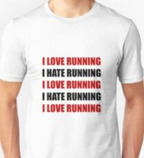 Love Hate Running Unisex T-Shirt