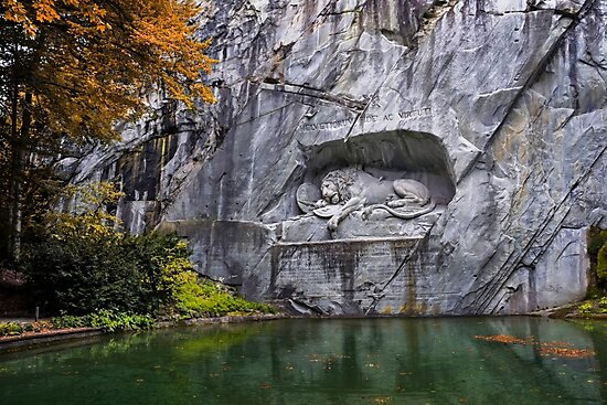 Lion of Lucerne by CarolJapp