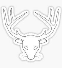 Deer Skull Antlers Wiskers Sticker