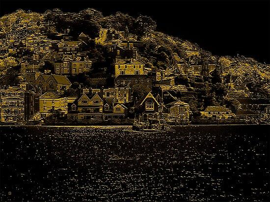 Hillside Buildings Near Dartmouth by Vy Solomatenko