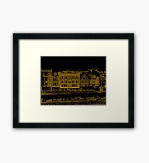 A Canal Street In Dartmouth Framed Print