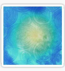vibrant circle doodle pattern  Sticker