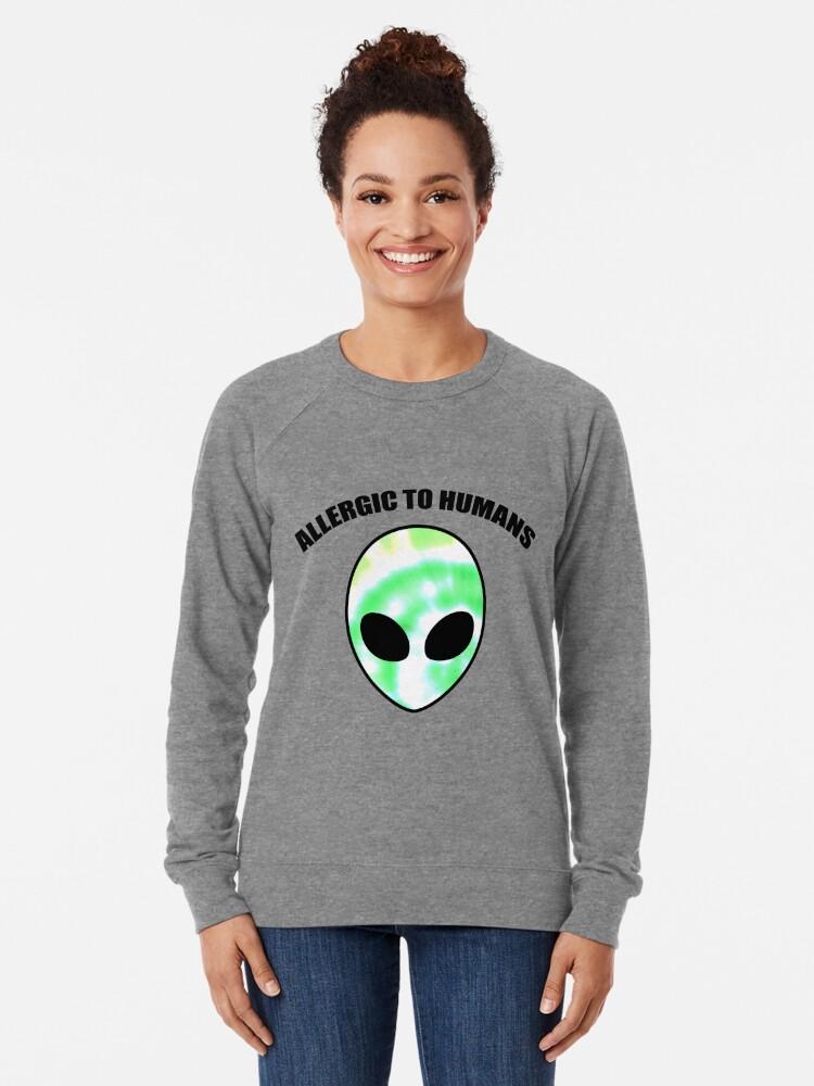 Alternative Ansicht von Allergiker für Menschen - Tie Dye Alien Print Leichter Pullover