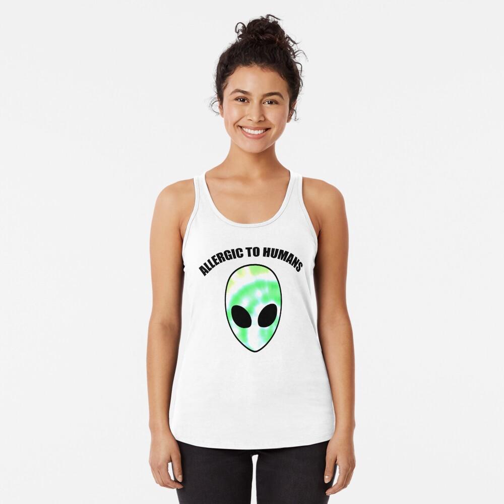 Allergiker für Menschen - Tie Dye Alien Print Racerback Tank Top