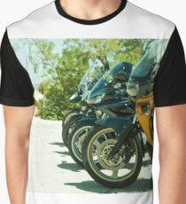 Motorcycles parked Graphic T-Shirt