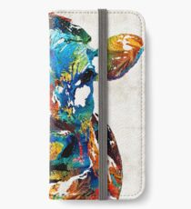 Colorful Cow Art - Mootown - By Sharon Cummings iPhone Wallet/Case/Skin