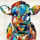 Colorful Cow Art - Mootown - By Sharon Cummings by Sharon Cummings
