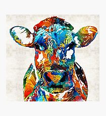 Colorful Cow Art - Mootown - By Sharon Cummings Photographic Print