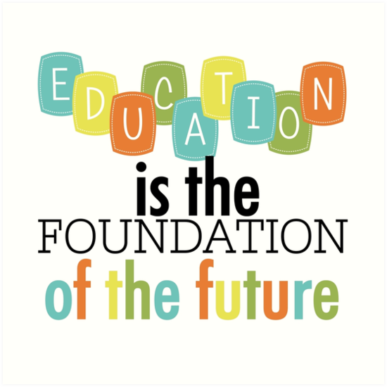"Foundation Quotes Inspiration Education Foundation Of The Future Text Quotes"" Art Prints."
