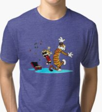Calvin and Hobbes Music  Tri-blend T-Shirt