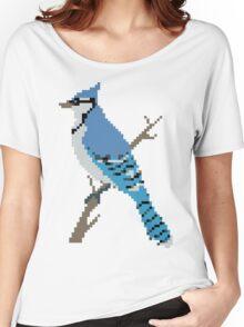 Pixel Blue Jay Women's Relaxed Fit T-Shirt
