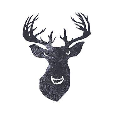 Wolfdeer by blafke