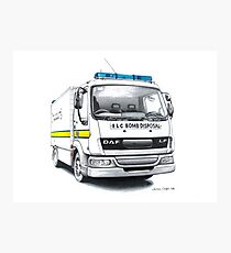 RLC Bomb Disposal Van Photographic Print