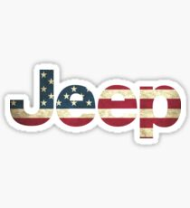 Jeep American Flag Sticker