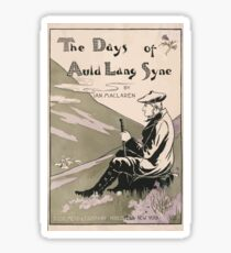 Artist Posters The days of auld lang syne by Ian Maclaren LFH 0579 Sticker